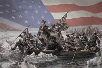 History Washington George Flag Pioneer Delaware Crossing