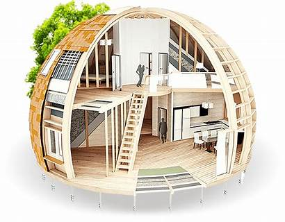 Skydome Dome Round Homes Geodesic Contemporary Houses