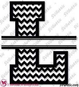 Split Letter Monogram Chevron