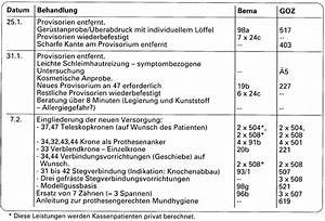 Goä Abrechnung Beispiel : fallbeispiel ze versorgung vertragliche und au ervertragliche leistungen teleskope ~ Themetempest.com Abrechnung