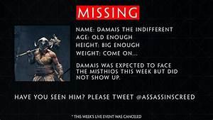Assassin's Creed Odyssey Live Event Cancelled, NPC 'Damais ...