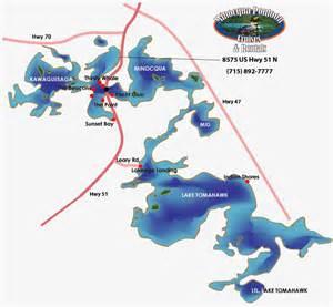Minocqua Pontoon Cruises Area Map