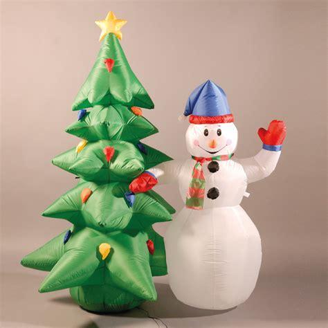 inflatable cm ft snowman  christmas tree