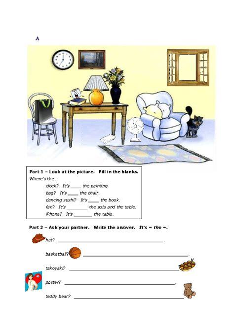 prepositions  place information gap fill