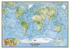 Buy World  Physical  Ocean Floor  Enlarged And Laminated By