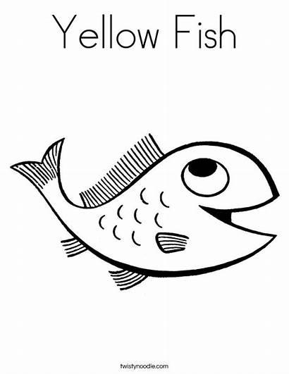 Coloring Yellow Fish