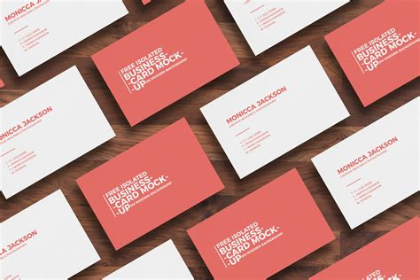 Free Isolated Business Card Mockup On Wooden Background Business Card Maker Online Free Square Cards Gold Foil American Express Grid For Amex Travel Insurance Green Canada Visiting Design Background Rose