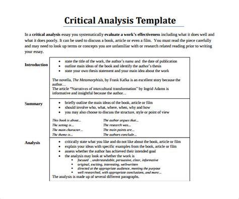 Resume Outline Sle by Sle Critical Essay How To Write A Critical Essay Sle