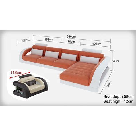 dimension canapé d angle canapé d 39 angle en cuir pleine fleur enzo fauteuil pop