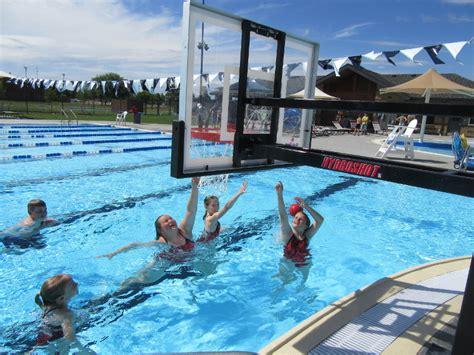 hydroshot stainless steel poolside basketball goal