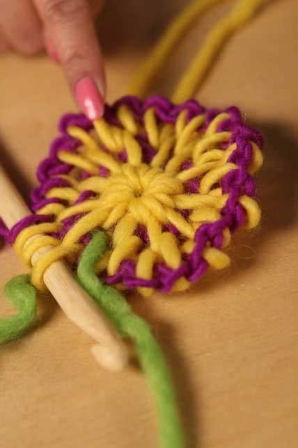 color tunisian crochet