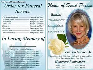 obituary pamphlet template - free funeral program templates on the download