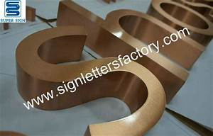 copper letters copper sign copper signage With copper sign letters