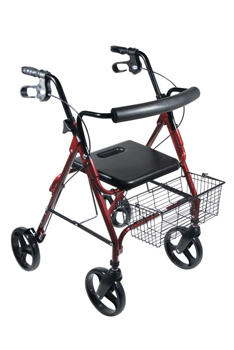"Dlite Lightweight Walker Rollator With 8"" Wheels And Loop"