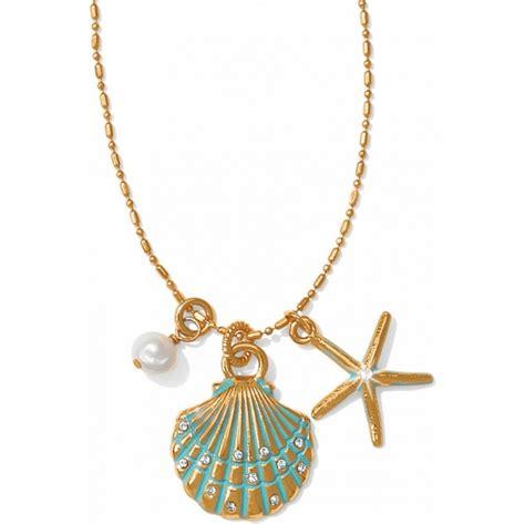 pearl and pendant necklace aqua shores aqua shores shell necklace necklaces