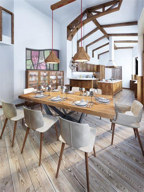 cucina con sala da pranzo sala da pranzo con una cucina in stile country moderna
