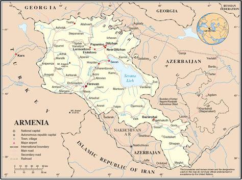 armenien touristische karte