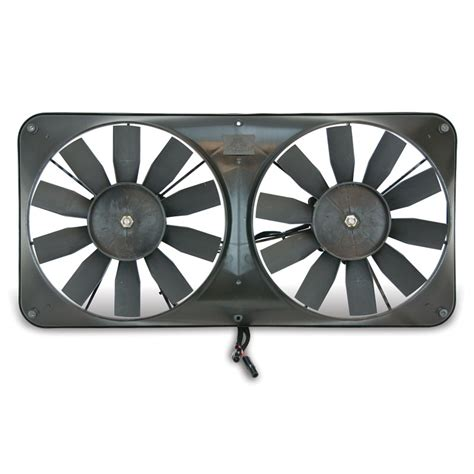 dual electric fans with shroud flex a lite automotive compact reversible dual 11 inch
