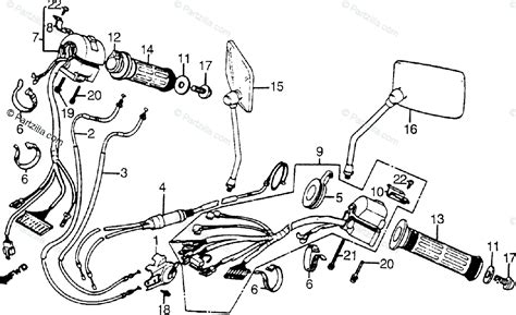 honda motorcycle 1985 oem parts diagram for switches cables partzilla