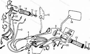 Honda Motorcycle 1985 Oem Parts Diagram For Switches    Cables