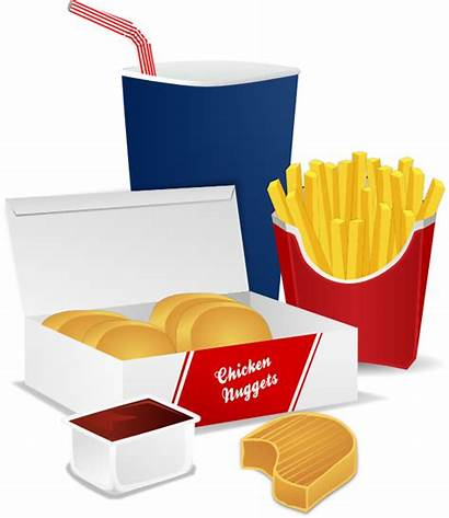 Fast Clipart Fries Takeaway Meal Chicken Nuggets