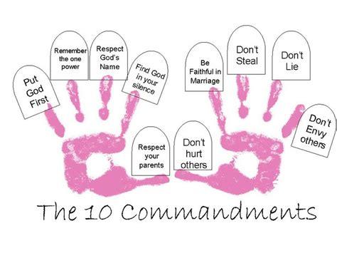 the 10 commandments broken simply by two 10 | e866cdf5060ca4054b9c1665ecda6584 commandments craft commandments for preschoolers