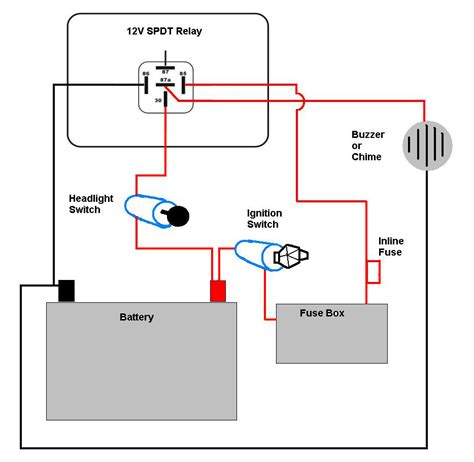 Simple Headlight Relay Wiring by Motorcycle Headlight With Single Spdt Relay Motor