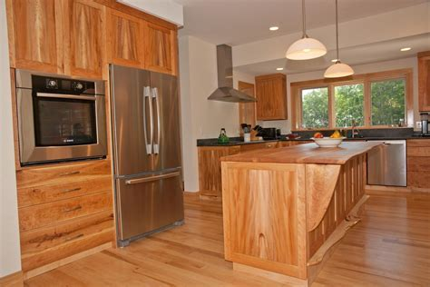 Handmade Cherry, American Lacewood, And Maple Kitchen