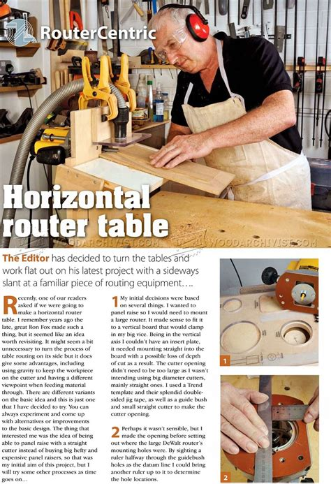 build horizontal router table woodarchivist