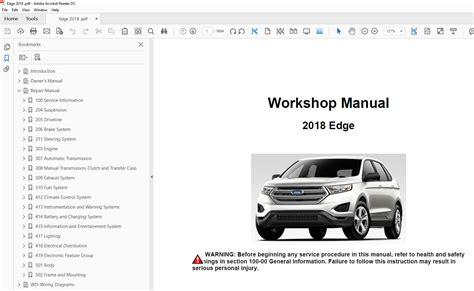 ford edge   factory repair manual