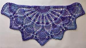 Pineapple Crochet Peacock Shawl [Free Pattern in PDF] My