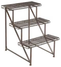 three tier iron plant rack traditional patio furniture and outdoor furniture by wisteria