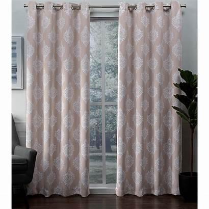 Curtains Blackout Blush Curtain Grommet Panels Panel
