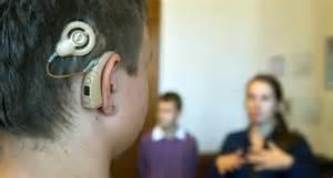 cochlea implantat auch elektronische hoerprothese