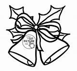 Bells Jingle Christmas Coloring Pages Printable Drawing Bell Drawings Getdrawings sketch template