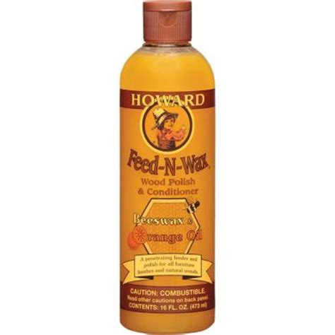wood wax howard 16 oz wood polish and conditioner fw0016 the home depot