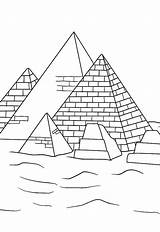 Pyramid Coloring History Learn sketch template