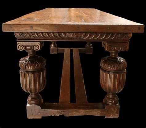 Oak Leaf Furniture elizabethan style oak carved table