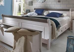 Doppelbett 200x200 Weiß : landhaus schlafzimmer eva massivholz wei grau von jumek g nstig bestellen skanm bler ~ Whattoseeinmadrid.com Haus und Dekorationen