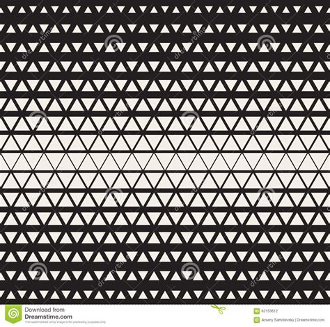 vector seamless black and white triangles halftone grid gradient pattern geometric background
