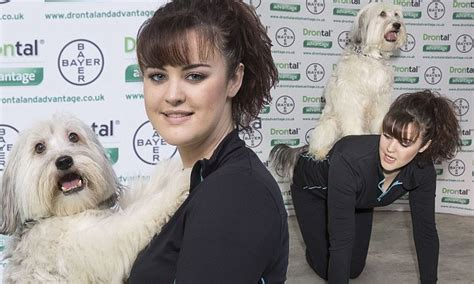 Exbritain's Got Talent Winners Ashleigh And Pudsey Break Out The Tricks At Crufts  Daily Mail
