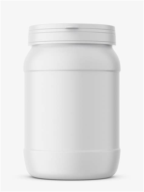 A realistic mockup for protein jar design to display your design in a more efficient way on this protein jar mockup free psd graphics. Protein jar mockup / matte - Smarty Mockups