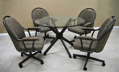 dinette sets with caster chairs alfa dinettes tobias m 80 caster chairs 36x60 glass table