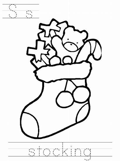 Coloring Christmas Ornaments Pages Stocking Clipart Ornament