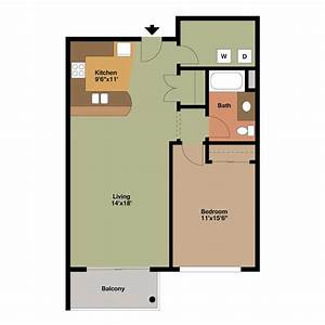 1, Bedroom, Apartment, Floor, Plans, Archives
