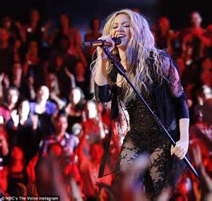 Shakira mouths the word 'f***' on live TV on The Voice ...
