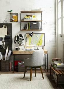 bureau deco industriel finest home office interior With amazing meubles pour petits espaces 9 salon au style industriel bois metal