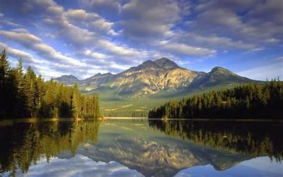 Mountain Water Land Lake April Scenes Spring
