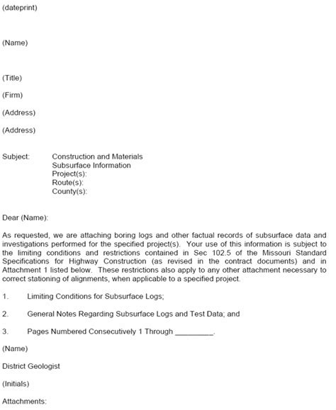 transmittal letter template authorization letter