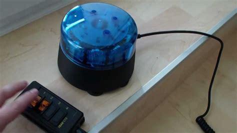 Mobiles Samco LED Blaulicht   Sondersignal   YouTube